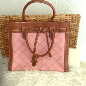 Vintage Dooney and Bourke pink with leather